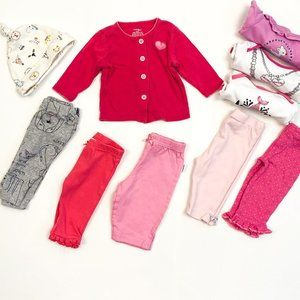 Baby Girl Bundle - 10 Pieces 0-3 Months